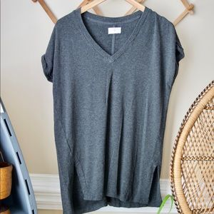 Lou and Grey Gray Top || Short Sleeve Soft